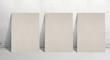 three paper stand
