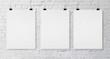 three blank poster
