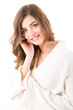 Portrait of a beautiful blonde woman - Beauty Care