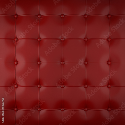 red padded leather