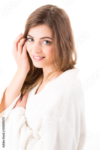 Portrait of a beautiful blonde woman - Beauty Care