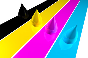 CMYK background.  CMYK concept.