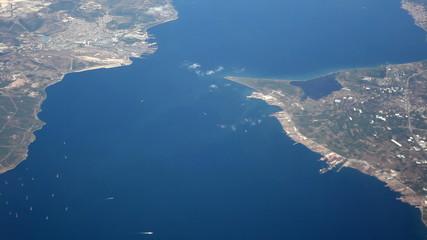 aerial  view bosphorus