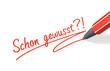 Stift- & Schriftserie: Schon gewusst?! rot