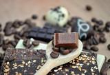 Schokolade mit Schriftzug