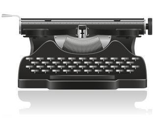old typewriter vector illustration