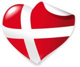 Heart-Sticker Danmark poster
