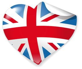 Heart-Sticker Union Jack