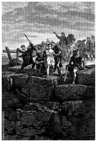 Ancient Rome : Tarpeian Rock - Roche Tarpéienne