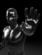 3d rendered illustration of a metal man