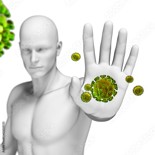 3d rendered illustration of the immune defense