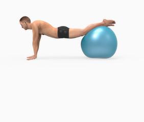 Hombre haciendo ejercicios de pilates