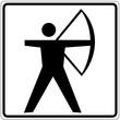 Schild weiß - Bogenschießen