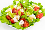 salad with fresh tomatoes and eggs