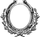 Decorative round frame