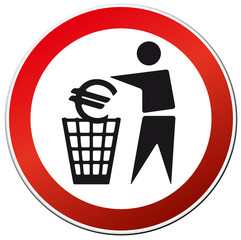 Symbol Euro abschaffung