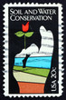 Postage stamp USA 1984 Flower in Hand, Conservation