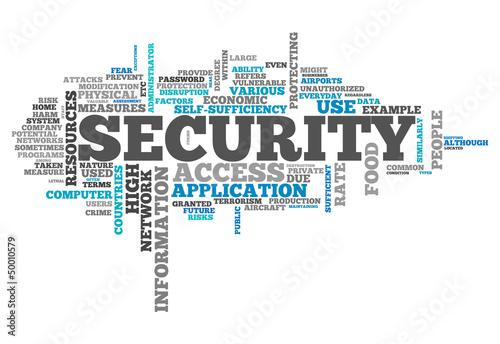 "Leinwandbild Motiv Word Cloud ""Security"""