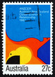 Postage stamp Australia 1983 Abstract Painting