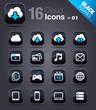 Black Squares - Cloud computing Icons