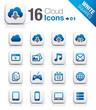 White Squares - Cloud computing Icons