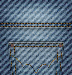 Top jeans pocket