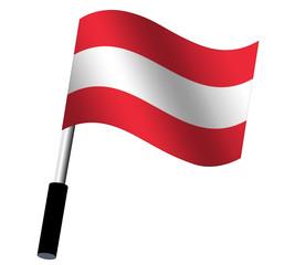 Flagge Österreich wehend