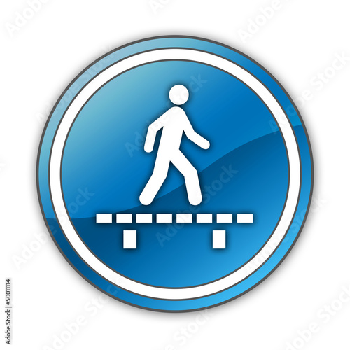 "Glossy Button ""Walk On Boardwalk"""