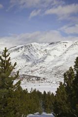 La vista de los Pirineos