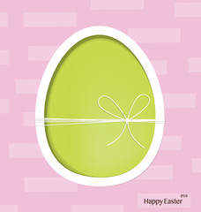 Easter egg, happy easter card. Vector illustration.