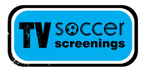 tv soccer screenings stamp