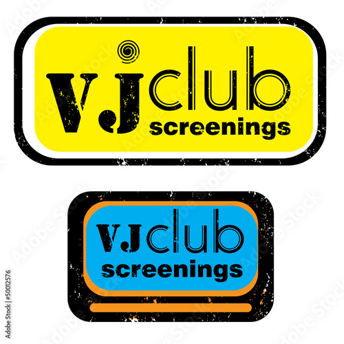 vj club screenings stamp