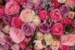 Mixed pink flower arrangement