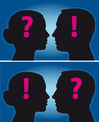 Liebe und Fragen - Mann und Frau