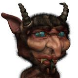 Strange looking devil seems to be confused
