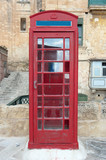 Phone Booth In Valletta, Malta