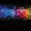 Triangle concept design Mosaic vector illustration