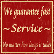 We guarantee fast service, vintage poster