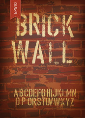 Brick wall design template. Vector, EPS10