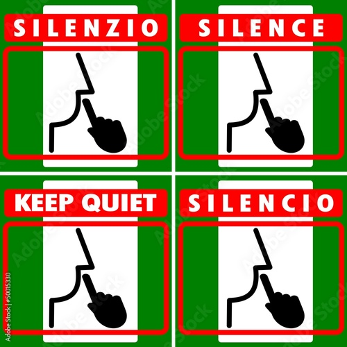 CARTELLO MULTILINGUE SILENZIO