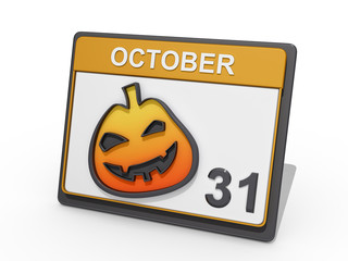 Halloween October 31 White BG