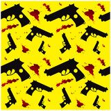 Seamless gun silhouette and blood background for web page or pap