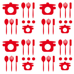 cutlery turquoise seamless pattern