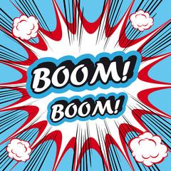 Pop Art explosion Background Boom!