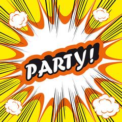 Pop Art explosion Background Party!