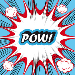 Pop Art explosion Background Pow!