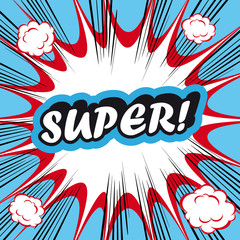 Pop Art explosion Background Super!