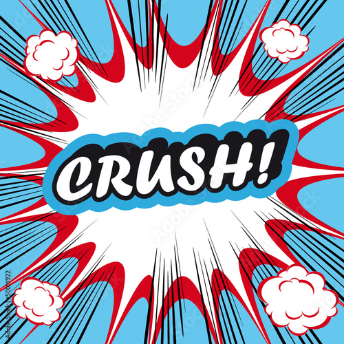 Pop Art explosion Background crush!