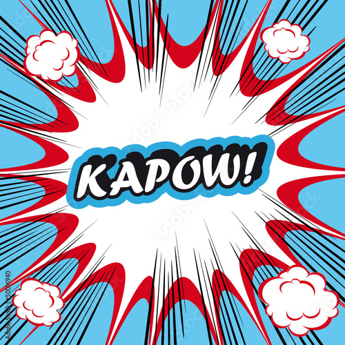 Pop Art explosion Background kapow!