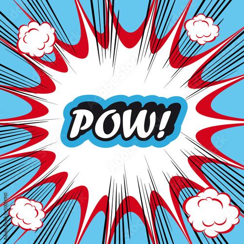Pop Art explosion Background Pow!